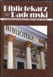 Bibliotekarz Radomski, 2002, R. 10, nr 2