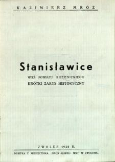 Stanisławice: wieś powiatu kozienickiego - krótki zarys historyczny