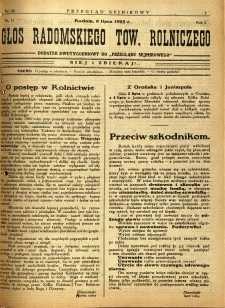 Przegląd Sejmikowy : Urzędowy Organ Sejmiku Radomskiego, 1925, R. 4, nr 26, dod.
