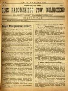 Przegląd Sejmikowy : Urzędowy Organ Sejmiku Radomskiego, 1925, R. 4, nr 27, dod.