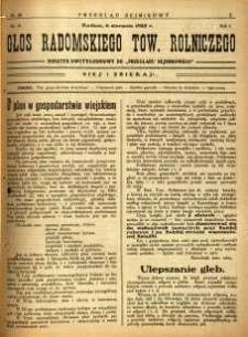 Przegląd Sejmikowy : Urzędowy Organ Sejmiku Radomskiego, 1925, R. 4, nr 30, dod.