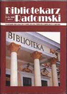 Bibliotekarz Radomski, 2005, R. 13, nr 3-4