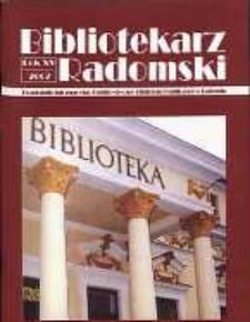 Bibliotekarz Radomski, 2007, R. 15, nr 1