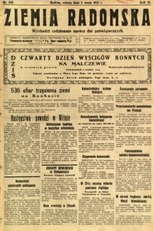 Ziemia Radomska, 1931, R. 4, nr 100