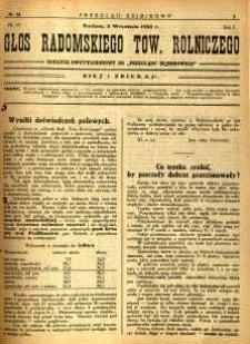 Przegląd Sejmikowy : Urzędowy Organ Sejmiku Radomskiego, 1925, R. 4, nr 34, dod.