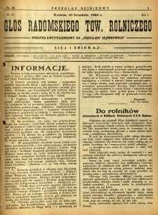 Przegląd Sejmikowy : Urzędowy Organ Sejmiku Radomskiego, 1925, R. 4, nr 48, dod.