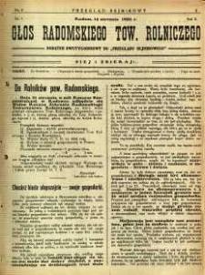 Przegląd Sejmikowy : Urzędowy Organ Sejmiku Radomskiego, 1926, R. 5, nr 2, dod.