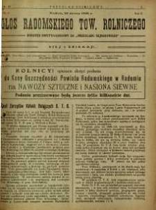Przegląd Sejmikowy : Urzędowy Organ Sejmiku Radomskiego, 1926, R. 5, nr 12, dod.