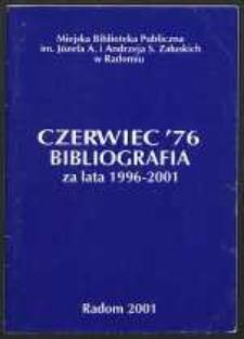 Czerwiec '76. Bibliografia za lata 1996-2001