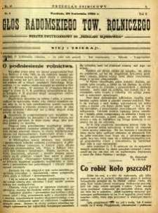 Przegląd Sejmikowy : Urzędowy Organ Sejmiku Radomskiego, 1926, R. 5, nr 16, dod.