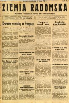 Ziemia Radomska, 1931, R. 4, nr 108
