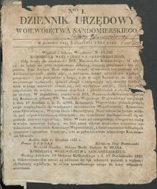 Dziennik Urzędowy Województwa Sandomierskiego, 1834, nr 1