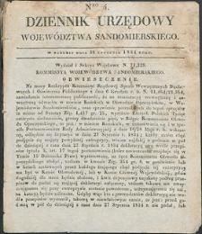 Dziennik Urzędowy Województwa Sandomierskiego, 1834, nr 4