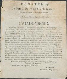 Dziennik Urzędowy Województwa Sandomierskiego, 1834, nr 4, dod. II
