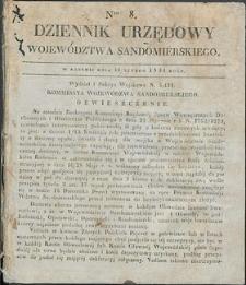 Dziennik Urzędowy Województwa Sandomierskiego, 1834, nr 8