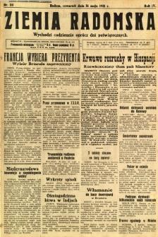 Ziemia Radomska, 1931, R. 4, nr 110