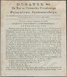 Dziennik Urzędowy Województwa Sandomierskiego, 1834, nr 10, dod. I