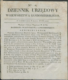 Dziennik Urzędowy Województwa Sandomierskiego, 1834, nr 11
