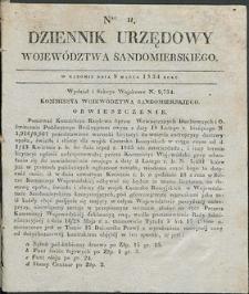 Dziennik Urzędowy Województwa Sandomierskiego, 1834, nr 11, dod. I