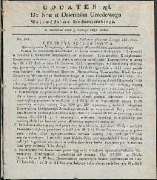 Dziennik Urzędowy Województwa Sandomierskiego, 1834, nr 11, dod. II
