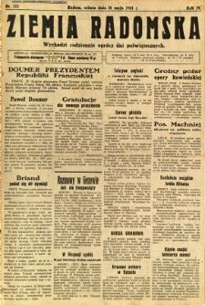 Ziemia Radomska, 1931, R. 4, nr 111