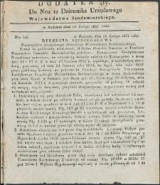 Dziennik Urzędowy Województwa Sandomierskiego, 1834, nr 12, dod. IV