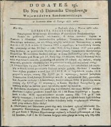 Dziennik Urzędowy Województwa Sandomierskiego, 1834, nr 13, dod. II