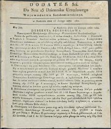 Dziennik Urzędowy Województwa Sandomierskiego, 1834, nr 13, dod. III