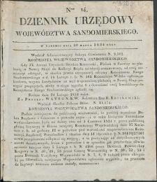 Dziennik Urzędowy Województwa Sandomierskiego, 1834, nr 14, dod. I