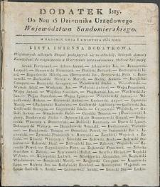 Dziennik Urzędowy Województwa Sandomierskiego, 1834, nr 15, dod. I
