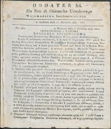 Dziennik Urzędowy Województwa Sandomierskiego, 1834, nr 16, dod. III