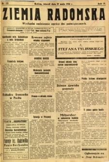 Ziemia Radomska, 1931, R. 4, nr 113