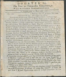 Dziennik Urzędowy Województwa Sandomierskiego, 1834, nr 20, dod. III