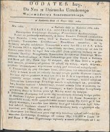 Dziennik Urzędowy Województwa Sandomierskiego, 1834, nr 21, dod. I