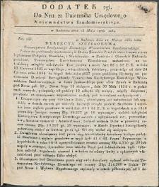 Dziennik Urzędowy Województwa Sandomierskiego, 1834, nr 21, dod. II