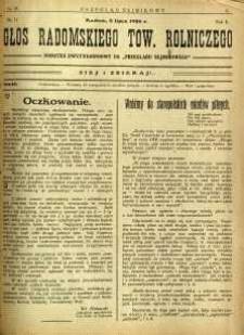 Przegląd Sejmikowy : Urzędowy Organ Sejmiku Radomskiego, 1926, R. 5, nr 26, dod.