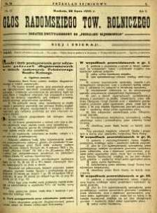 Przegląd Sejmikowy : Urzędowy Organ Sejmiku Radomskiego, 1926, R. 5, nr 28, dod.