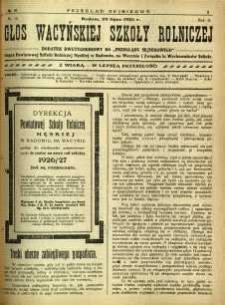 Przegląd Sejmikowy : Urzędowy Organ Sejmiku Radomskiego, 1926, R. 5, nr 29, dod.