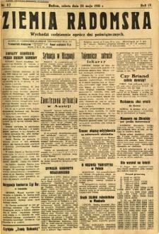 Ziemia Radomska, 1931, R. 4, nr 117