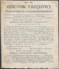 Dziennik Urzędowy Województwa Sandomierskiego, 1834, nr 26, dod. I