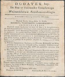 Dziennik Urzędowy Województwa Sandomierskiego, 1834, nr 27, dod. I