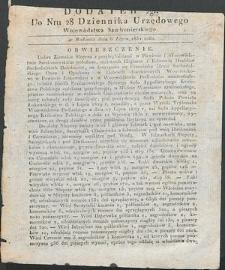 Dziennik Urzędowy Województwa Sandomierskiego, 1834, nr 28, dod. II
