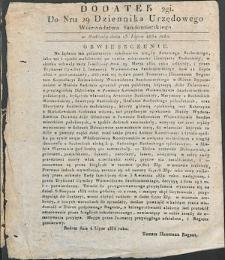 Dziennik Urzędowy Województwa Sandomierskiego, 1834, nr 29, dod. II