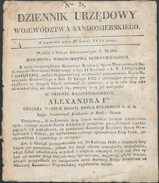 Dziennik Urzędowy Województwa Sandomierskiego, 1834, nr 31