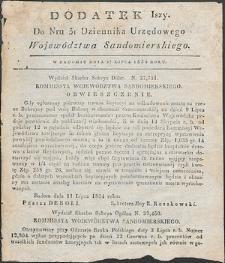 Dziennik Urzędowy Województwa Sandomierskiego, 1834, nr 31, dod. I