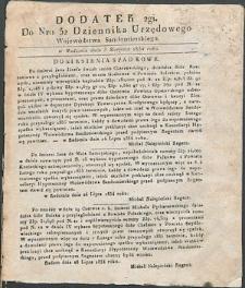 Dziennik Urzędowy Województwa Sandomierskiego, 1834, nr 32, dod. II