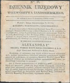 Dziennik Urzędowy Województwa Sandomierskiego, 1834, nr 33