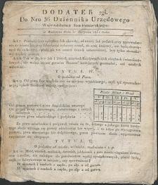 Dziennik Urzędowy Województwa Sandomierskiego, 1834, nr 36, dod. II