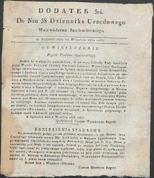 Dziennik Urzędowy Województwa Sandomierskiego, 1834, nr 38, dod. III