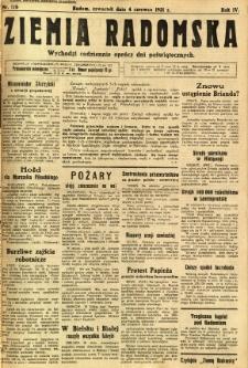 Ziemia Radomska, 1931, R. 4, nr 126